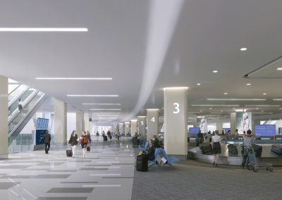 Headhouse Baggage Claim Rendering